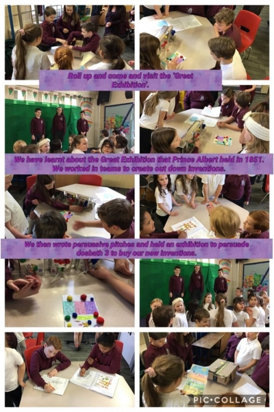 Dosbarth 4 presented their inventions in the 'Great Exhibition'