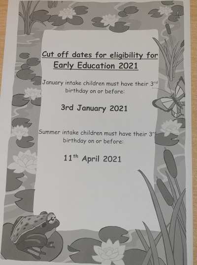 Funded Early Education dates