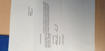 Letter from Church